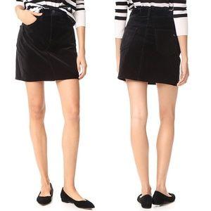 Rag & Bone Dive Crushed Velvet A-Line Mini Skirt